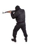 Terrorist with kalashnikov AK-47 Royalty Free Stock Photography