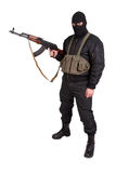 Terrorist with kalashnikov isolated Royalty Free Stock Photos