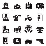 Terrorist, killer, Assassin  Icons set Royalty Free Stock Photo