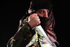 Terrorist man Stock Photography