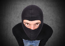 Terrorist in mask Stock Image
