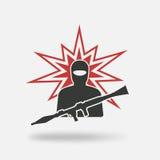 Terrorist med granatlauncheren Royaltyfria Foton