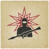 Terrorist med granatlauncheren Royaltyfri Fotografi