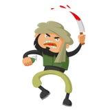 Terrorist med kniven Royaltyfria Bilder