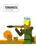 Terrorist med vapen Royaltyfria Foton