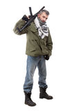 Terrorist met geweer royalty-vrije stock afbeeldingen