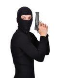 Terrorist mit Gewehr stockbild