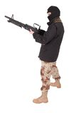 Terrorist mit Maschinengewehr m60 lizenzfreies stockfoto