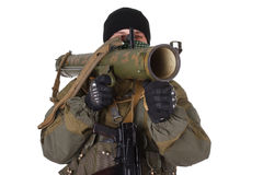 Terrorist mit RPG-Raketenwerfer lizenzfreies stockbild