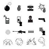 Terrorist- och spionsymbolsuppsättning Arkivbild