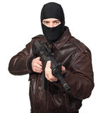 Terrorist with rifle Stock Image