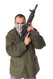 Terrorist with rifle Royalty Free Stock Photo