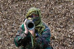 Terrorist with RPG. Heading to the lens Stock Photos