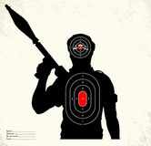 Terrorist - shooting range target Royalty Free Stock Images