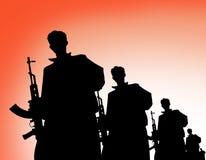 Terrorist silhouette Royalty Free Stock Photo