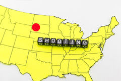 The terrorist in South Dakota Stock Image