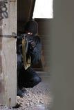 Terrorist targeting with a gun Royalty Free Stock Photos