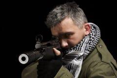 Terrorist whit gun Royalty Free Stock Image