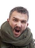 Terrorista arrabbiato Fotografia Stock Libera da Diritti