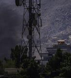 Terrorista Attack - Kabul, Afeganistão - 21-AUG-2018 imagens de stock