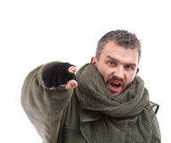 Terrorista che indica per voi Immagine Stock Libera da Diritti