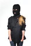 Terrorista della donna Fotografie Stock Libere da Diritti