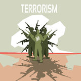 Terrorista munito Group Terrorism Concept Fotografia Stock Libera da Diritti