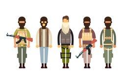 Terrorista munito Group Terrorism Concept Immagini Stock