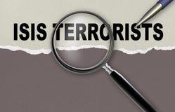 TERRORISTAS DE ISIS stock de ilustración