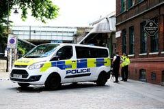 Terroriste Attack du marché de ville image libre de droits