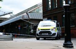 Terroriste Attack du marché de ville photographie stock