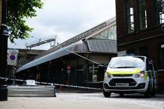 Terroriste Attack du marché de ville photographie stock libre de droits