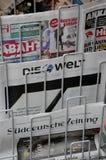 TERRORISTE ATTAQUÉ EN PAGES DE COUVERTURE DE BERLIN image libre de droits