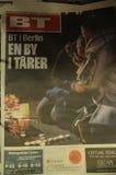 TERRORISTE ATTAQUÉ EN PAGES DE COUVERTURE DE BERLIN photos libres de droits