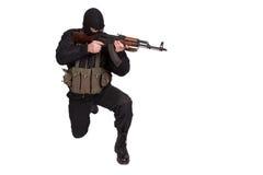 Terroriste avec la kalachnikov Photos stock
