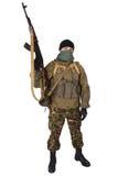 Terroriste avec le fusil de kalachnikov photos libres de droits