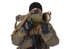 Terroriste avec le lance-roquettes de RPG image libre de droits