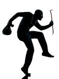 Terroriste criminel de voleur orientant l'homme de canon Image stock