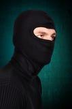 Terroriste dans le masque photos libres de droits