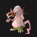 Terroriste de rat de bande dessinée Photo libre de droits