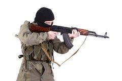 Terroriste shoting images stock