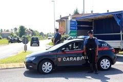 Terroristenbekämpfungssicherheitsoperationen in Italien stockbilder