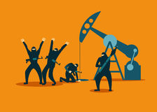 Terrorists hijacked an oil rig and steal oil Royalty Free Stock Photo