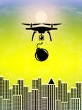 Terrorists Treats from Drones Stock Photo