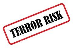 Terrorrisikostempel stock abbildung
