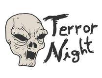 Terroru noc czaszka Zdjęcie Royalty Free