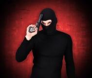 Terrorysta z pistoletem Obraz Royalty Free
