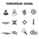 Terroryzm ikony ilustracji