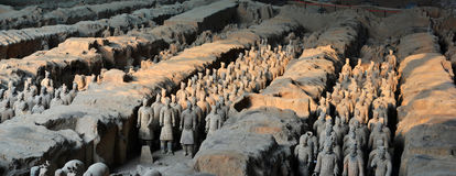 Terrracota Army. The Terracotta Army is a collection of terracotta sculptures depicting the armies of Qin Shi Huang, the first Emperor of China Royalty Free Stock Photo