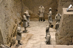 Terrracota Army. The Terracotta Army is a collection of terracotta sculptures depicting the armies of Qin Shi Huang, the first Emperor of China Stock Photos